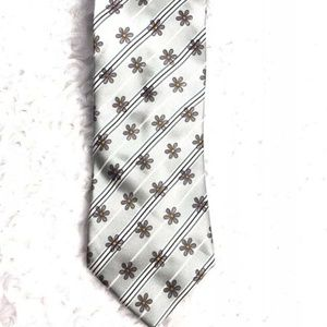 Ermenegildo Zegna Mens 100% Silk Tie Gray Purple